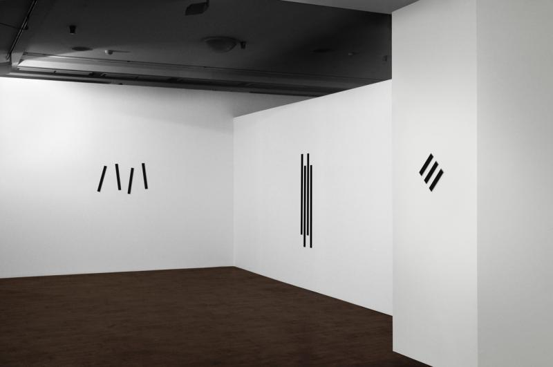 Installation view, Strategic project - Czech section, Peripheral vision, Black and white compositions nr. 1-4,